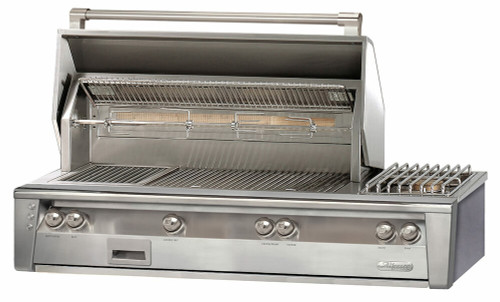 Alfresco ALXE 56-Inch Built-In Gas Deluxe Grill With Rotisserie And Side Burner