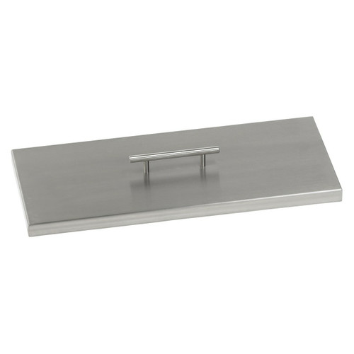American Fireglass Stainless Steel Cover for Rectangular Drop-In Fire Pit Pan