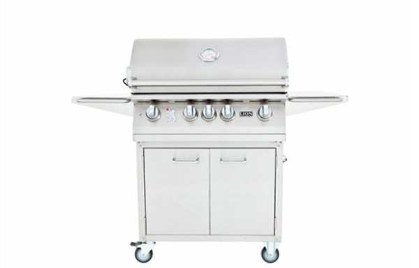 Lion 4 burner grill on cart