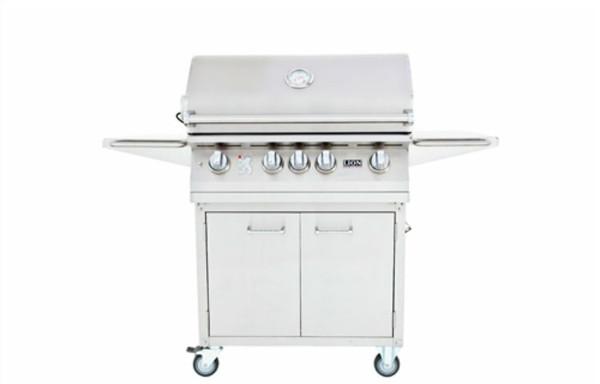 Lion 4 burner grill on cart