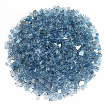 "American Fireglass 1/4"" Pacific Blue Reflective Fireglass 10lbs"