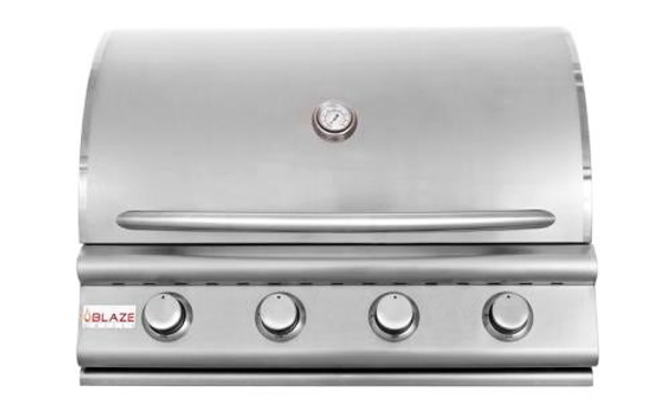 Blaze 4 burner grill hood closed