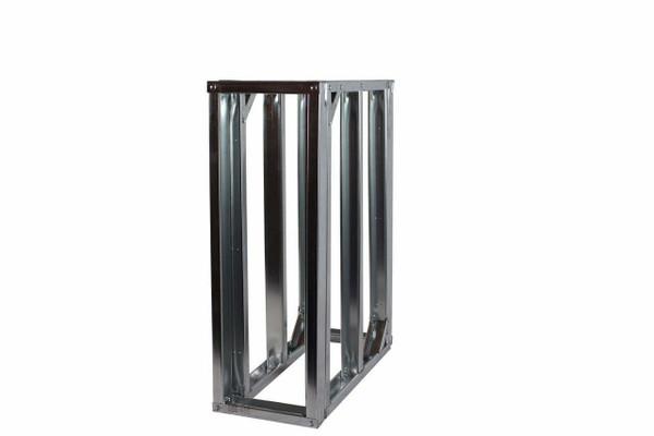 "DIY BBQ 1ft Straight Modular Frame Section 42"" Bar Height"