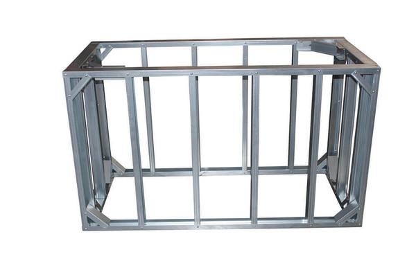 "DIY BBQ 5ft Straight Modular Frame Section 42"" Bar Height"