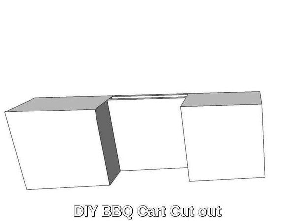 DIY BBQ Grill Cart (roll in) Cut Out Kit (DIY-BBQ-Cart)