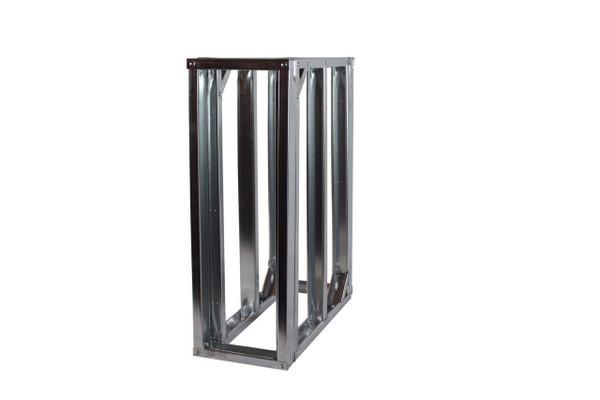 "DIY BBQ 1ft Straight Modular Frame Section 36"" Standard Height"