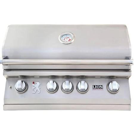 Lion 4 burner grill hood closed