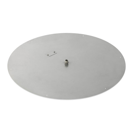 "American Fireglass 36"" Round Stainless Steel Flat Pan (1/2"" Nipple)"
