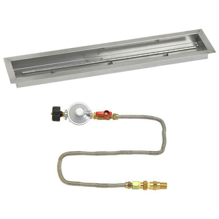 "American Fireglass 36""x 6"" Linear Drop-In Pan with Match Lite Kit - Propane"