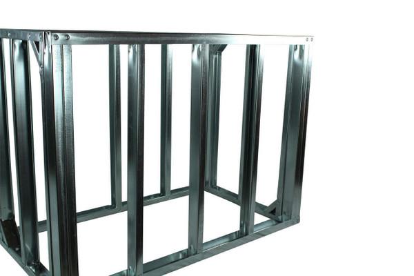 "DIY BBQ Quick Panel™ 4ft Straight Modular Frame Section 36"" Standard Height"
