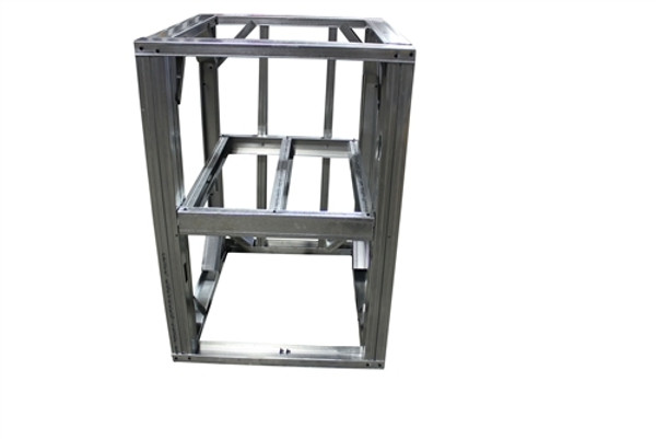 "DIY BBQ 2ft Open Shelf Modular Frame Section 36"" Standard Height"