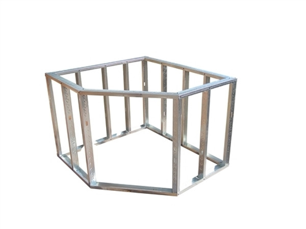 DIY BBQ Diagonal Egg Corner Modular Section