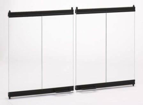 "36"" Bi-Fold Glass Doors for Woodburng Fireplace"