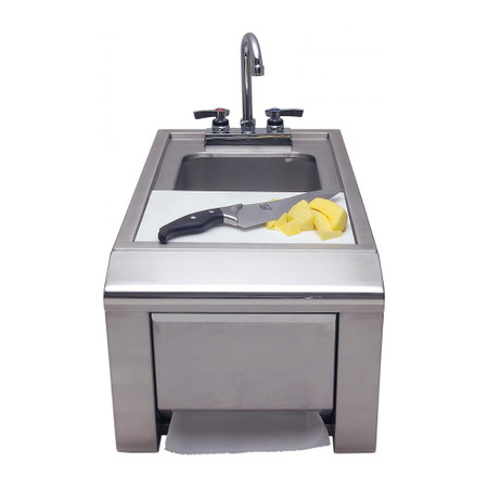 Alfresco 14-Inch Prep And Hand Wash Sink With Towel Dispenser (ASK-T)