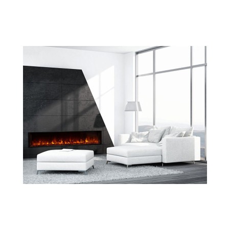 """Modern Flames  Landscape 80"""" X 15"""" Fullview Built In Electric Fireplace (Clean Face) LFV2-80/15-SH"""