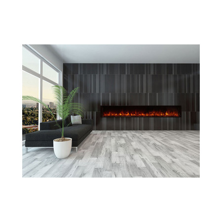 """Modern Flames  Landscape 100"""" X 15"""" Fullview Built In Electric Fireplace (Clean Face) LFV2-100/15-SH"""