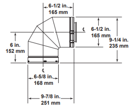 Majestic SLP90 90 Degree Elbow - 4 Inch Diameter