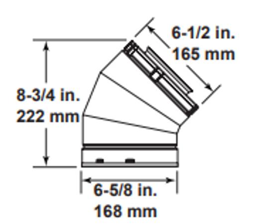 Majestic SLP45 45 Degree Elbow - 4 Inch Diameter