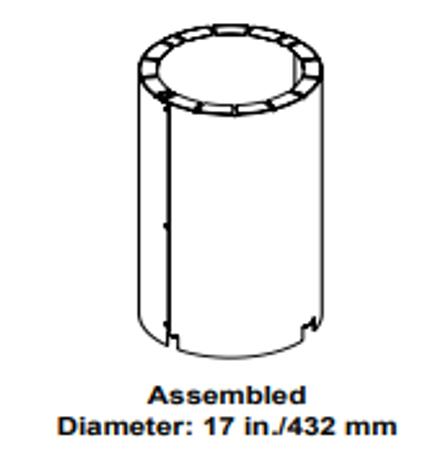 Majestic AS10 Straight Flue Attic Insulation Shield