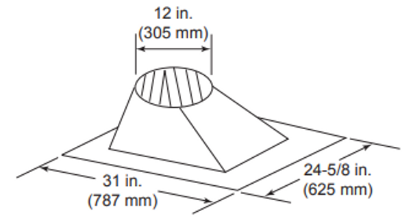 Majestic RF371 6/12 - 12/12 Pitch Roof Flashing - 8 inch Diameter