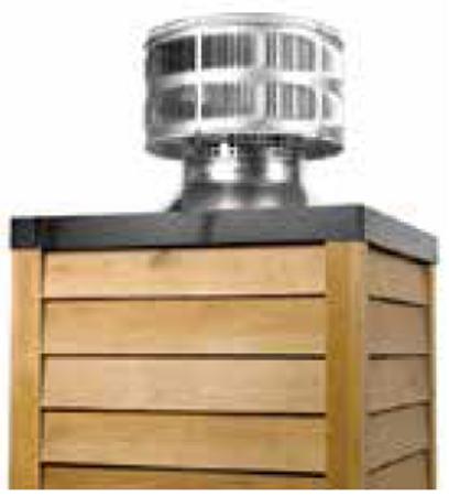 Majestic TR11T-B Round Telescoping Termination Cap Storm Collar