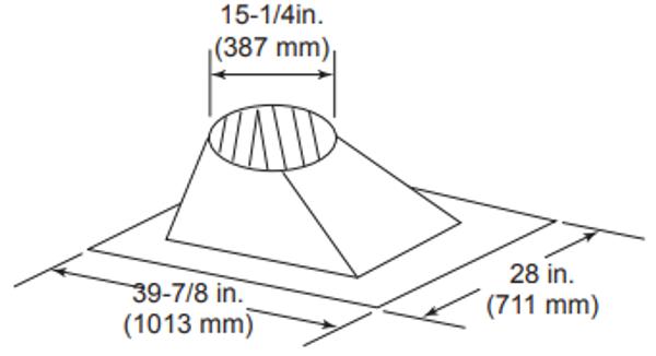 Majestic RF571 Roof Flashing, 6/12 - 12/12 Pitch