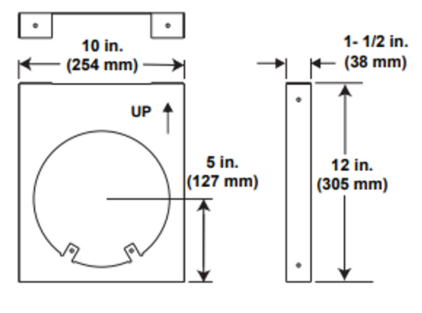 Majestic DVP-HVS Horizontal Pipe Support - 5 Inch Diameter