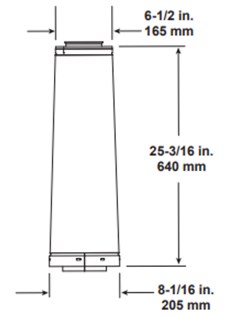 Majestic DVP-SLP24 24 Inch DVP To SLP Adapter