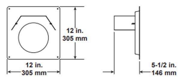 Majestic SLP-WS Wall Firestop - 4 Inch Diameter
