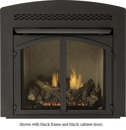 Majestic VD32AFB Black Arched Front Facing Lower Control Door