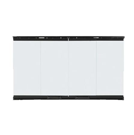 Majestic Bi-Fold Glass Doors with Black Trim for SB80