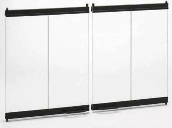 Majestic Bi-Fold Glass Doors with Black Trim for 42 - DM1742