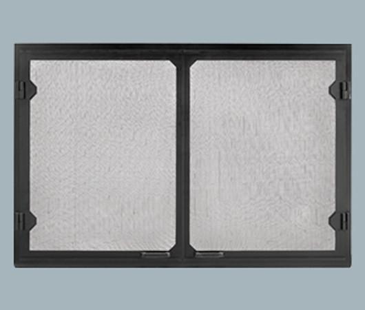 Majestic GV80BK Grand Vista Black Cabinet Style Mesh Doors