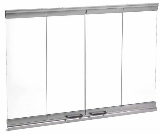 Majestic DM1036S Bi-Fold Glass Doors with Stainless Steel Trim