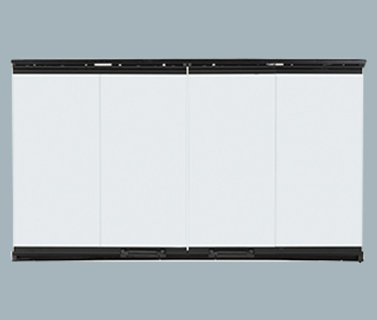 Majestic Bi-Fold Glass Doors with Black Trim - DM1036