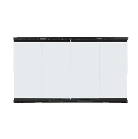 Majestic Bi-Fold Glass Doors with Black Trim for SB60 - DM6036