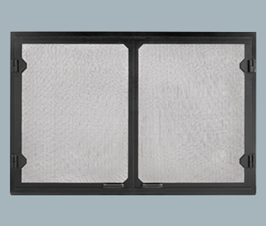 Majestic GV60BK Grand Vista Black Cabinet Style Mesh Doors