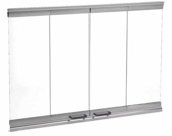 Majestic DM1736S Bi-Fold Glass Doors Stainless Steel Trim
