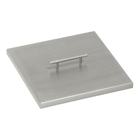 American Fireglass Stainless Steel Cover for Square Drop-In Fire Pit Pan