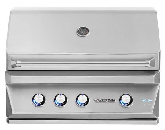 Twin Eagles 36 Inch Outdoor Gas Grill with Infrared Rotisserie and Sear Zone