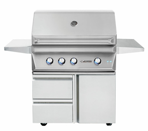 Twin Eagles 36 Inch Grill Base with Storage Drawers, Single Door