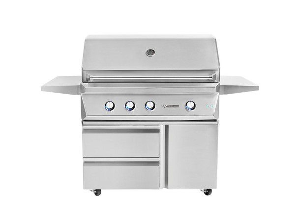 Twin Eagles 42 Inch Grill Base with Storage Drawers, Single Door