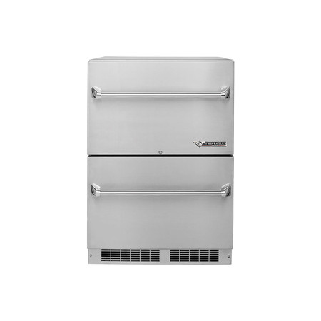 Twin Eagles 24 Inch Outdoor Refrigerator Two Drawer Refrigerator