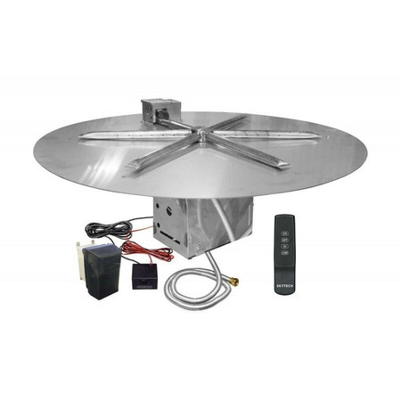 Firegear UL Listed Electronic Ignition Gas Fire Pit Burner Kit, Round Flat Pan 34 Inch