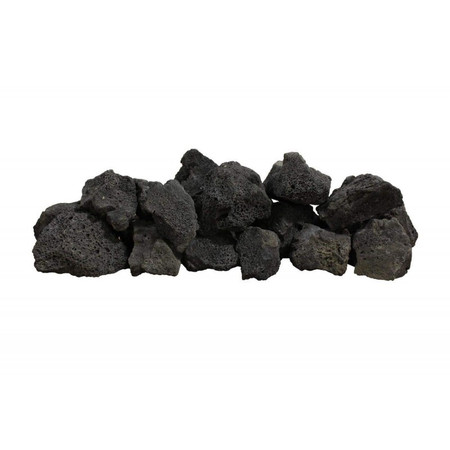 Firegear Black Lava Boulders, 30 pounds