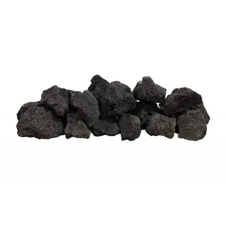 Firegear Black Lava Boulders, 30 pounds