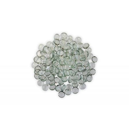 Firegear Pound Fire Glass Beads, 16 to 18mm, Clear