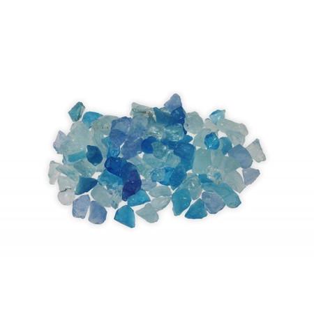 Firegear Caribbean/Paradise Blend Fireglass, 1/2 to 3/4-inch, Caribbean Blue
