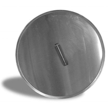 Firegear Stainless Steel Burner Cover with Brushed Finish, Round, 22.375-inch