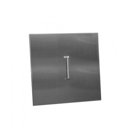 Firegear Stainless Steel Burner Cover with Brushed Finish, Square, 22.25-inch